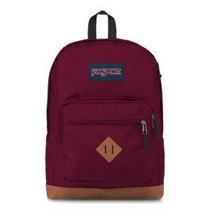 Jansport City View Backpack Red Laptop Sleeve NEW